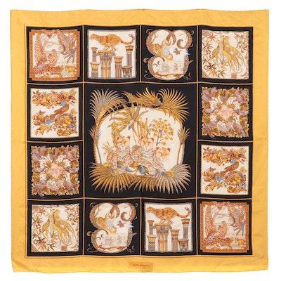Salvatore Ferragamo Silk Scarf in Muliticolor Print