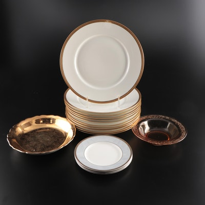 Wedgwood, Limoges, and Other Porcelain Plates and Tableware