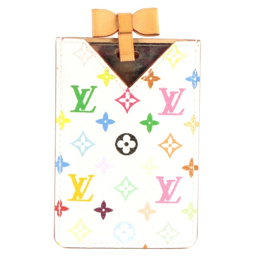 Louis Vuitton Etui Miroir Mirror and Case in White Multicolore Monogram