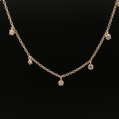 14K 1.36 CTW Diamond Fringe Necklace
