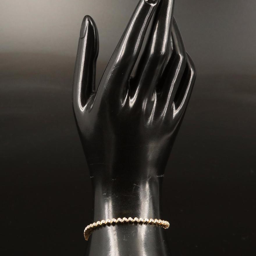 Sterling Diamond Line Bracelet