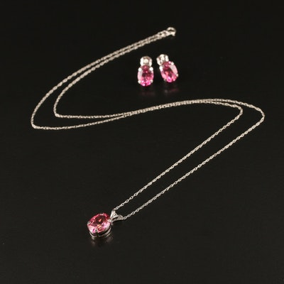 14K Sapphire Necklace and Earrings