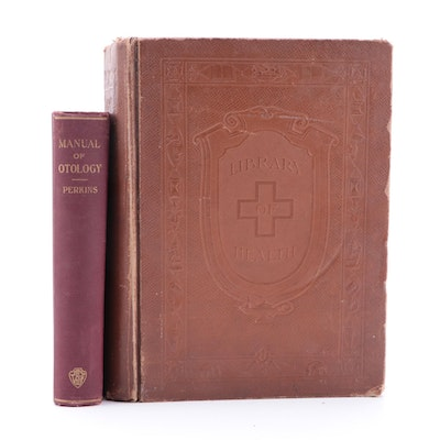"""Illustrated """"Library of Health"""" by B. Frank Scholl and More, Early 20th Century"""