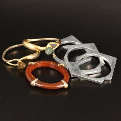 Vintage Resin, Geometric and Knot Bangles