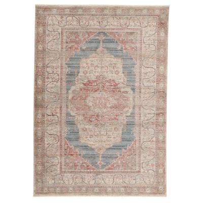 5'3 x 7'7 Machine Made Art Silk Turkish Persian Serapi Rug, 2010s