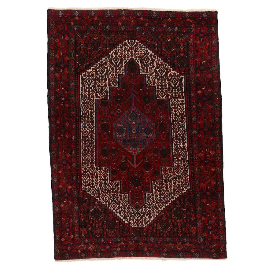 3'10 x 5'7 Hand-Knotted Persian Kurdish Herati Area Rug