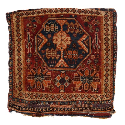2' x 2' Hand-Knotted Persian Afshar Storage Bag, 1910s