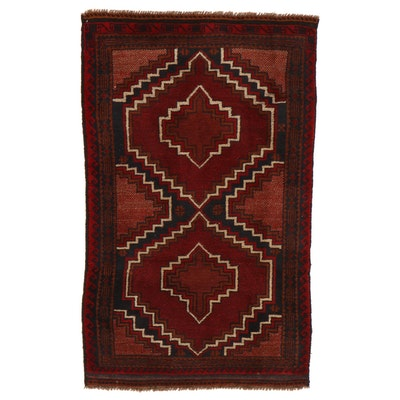 2'10 x 4'8 Hand-Knotted Afghan Turkmen Rug, 2000s