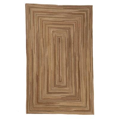 5' x 8'3 Handmade Rectangular Braided Coil Area Rug