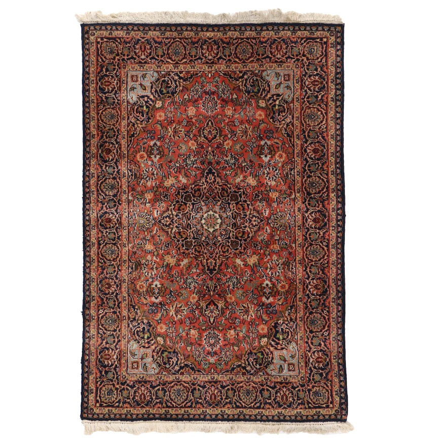 4' x 6'2 Hand-Knotted Persian Birjand Area Rug
