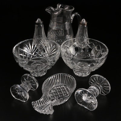 """Waterford Crystal """"Lismore"""" Shakers, and Other Tableware, Late 20th Century"""
