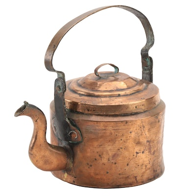Forged  and Dovetailed Copper Kettle, Late 19th/ Early 20th  Century