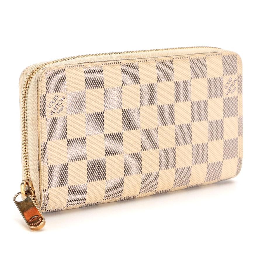 Louis Vuitton Zippy Wallet in Damier Azur Coated Canvas