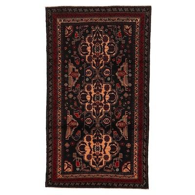3'9 x 7' Hand-Knotted Persian Birjand Khorasan Rug, 1990s