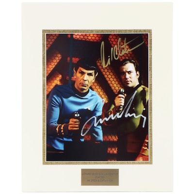 "Leonard Nemoy and William Shatner ""Star Trek"" Signed Movie Photo Print, COA"