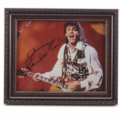 "Paul McCartney Signed ""Cheers"" Music Photo Print"