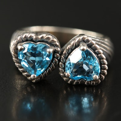 Sterling Swiss Blue Topaz Heart Ring