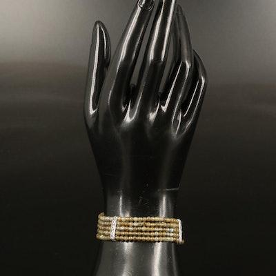 Sterling Labradorite Multi-Row Bracelet