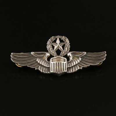 WWII U.S. Army Air Force Command Pilot Wings Brooch