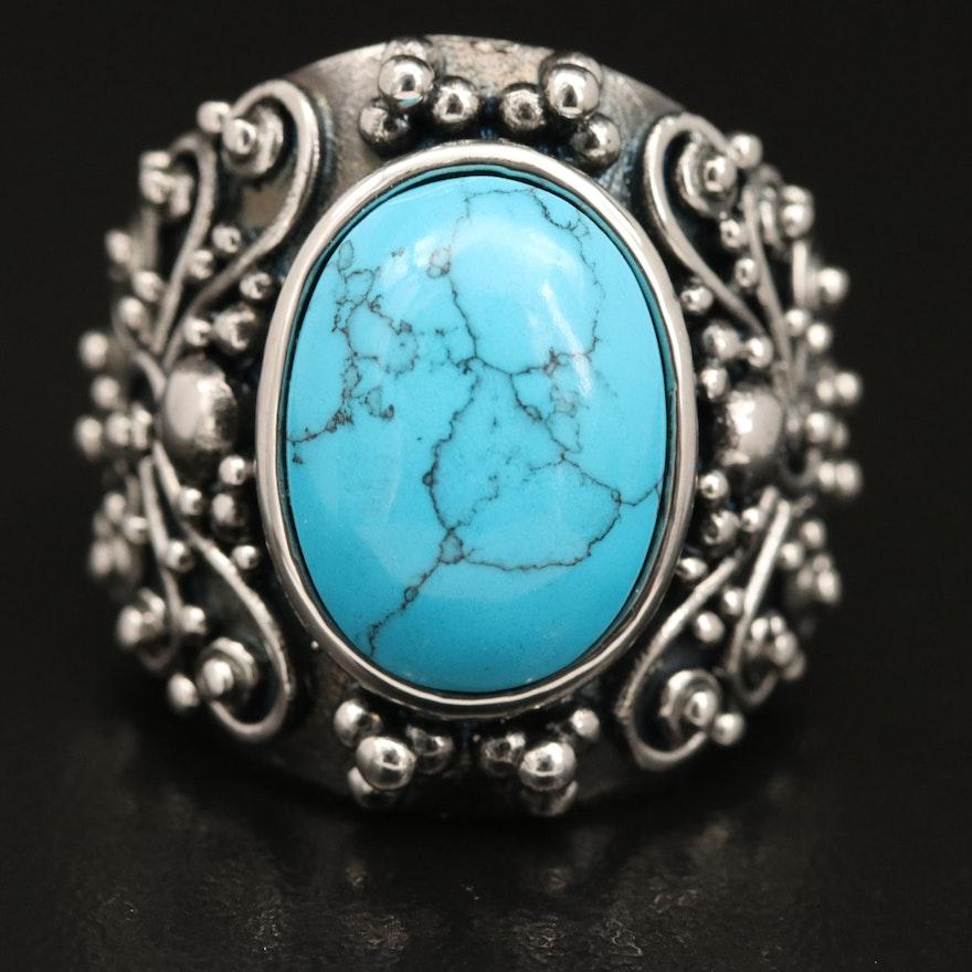 Southwestern Style Faux Turquoise Ring