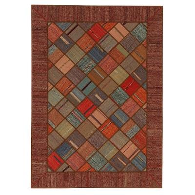 5'8 x 7'10 Handmade Tufan Persian Patchwork Kilim Rug, 2010s