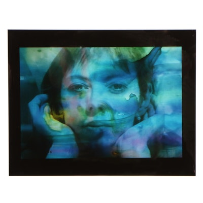 Barbara Hershey Cibachrome Portrait Photograph