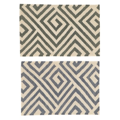 2' x 3'1 Handwoven Indian Modern Style Kilim Rugs, 2010s