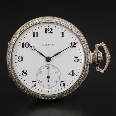 1917 Waltham 14K Gold Filled Sidewinder Pocket Watch