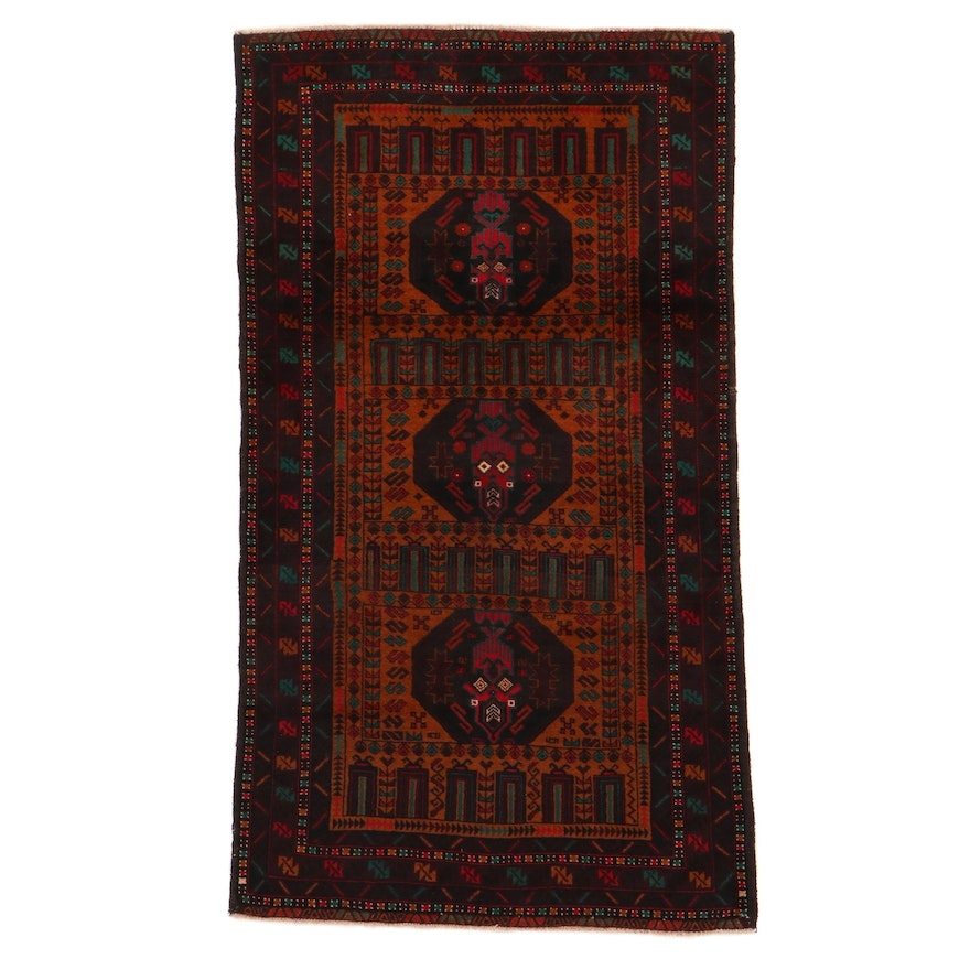 3'8 x 6'5 Hand-Knotted Persian Baluch Rug, 2000s