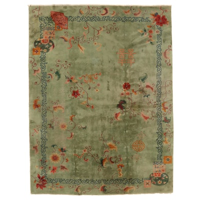 8'10 x 11'9 Hand-Knotted Chinese Nichols Style Room Sized Rug