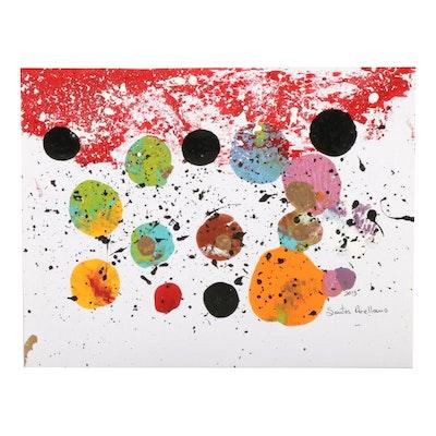 Santos Arellano Abstract Acrylic Painting, 2013