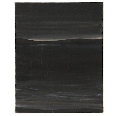 Jon Scharlock Abstract Seascape Oil Painting, Late 20th Century