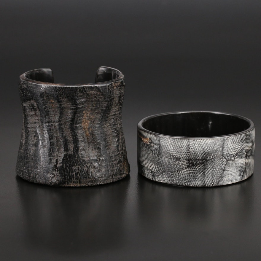 Resin Bracelets with Wood Overlay