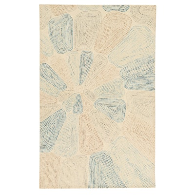5'1 x 8' Hand-Tufted Indian Modern Style Rug, 2010s