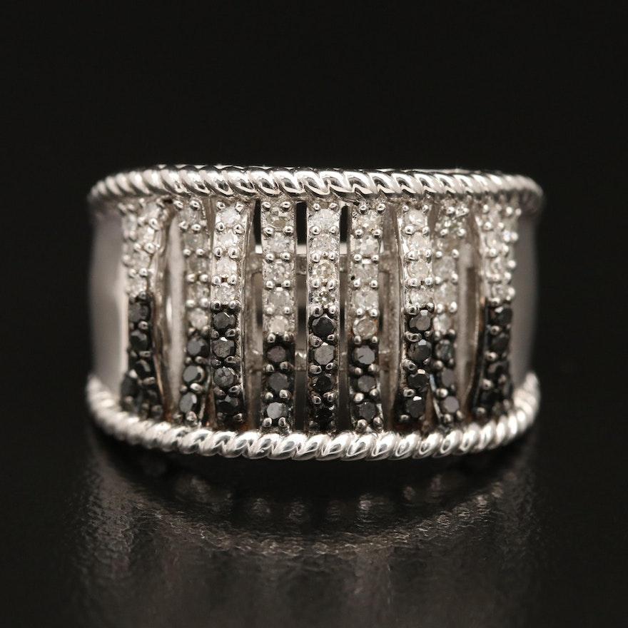 Sterling Silver Diamond Ring