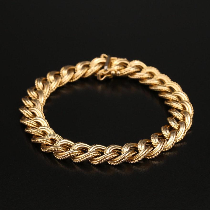 Italian 14K Curb Chain Bracelet