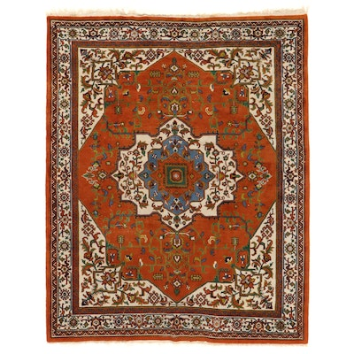7'11 x 10'1 Hand-Knotted Persian Heriz Area Rug