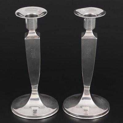 Lebkuecher & Co. Sterling Silver Candlesticks, 1896–1909