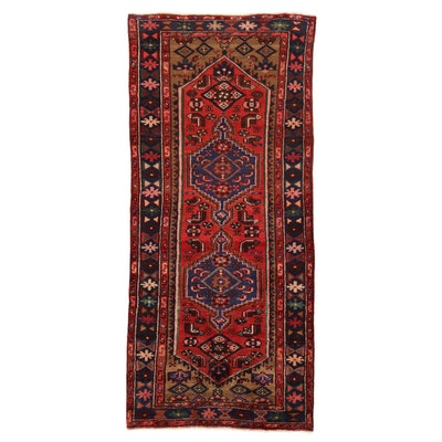 3' x 6'10 Hand-Knotted Persian Zanjan Rug, 1930s