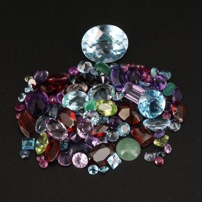 Loose 32.75 CTW Ruby, Topaz, Amethyst and Additional Gemstones