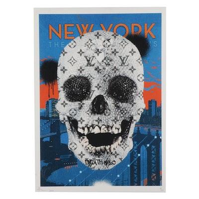 Death NYC Diamond Skull Pop Art Graphic Print, 2020