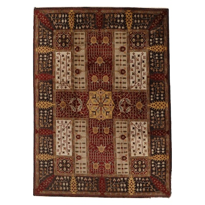 8'6 x 11'9 Hand-Knotted Indo-Persian Bakhtiari Room Sized Rug