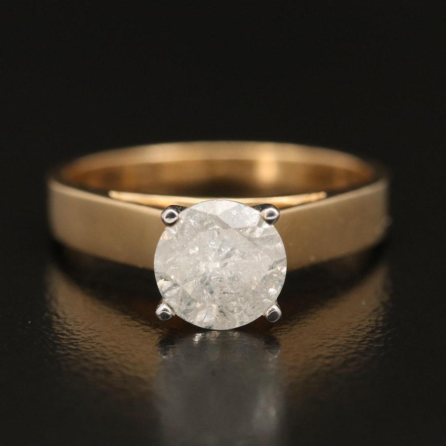 14K 1.25 CT Diamond Solitaire Ring