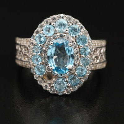 Sterling Swiss Blue Topaz Ring