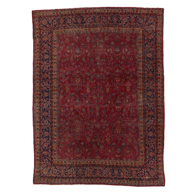 8'7 x 11'9 Hand-Knotted Persian Sarouk Room Sized Rug