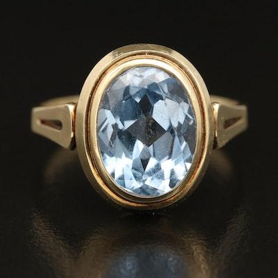 Vintage 14K Spinel Bezel Ring
