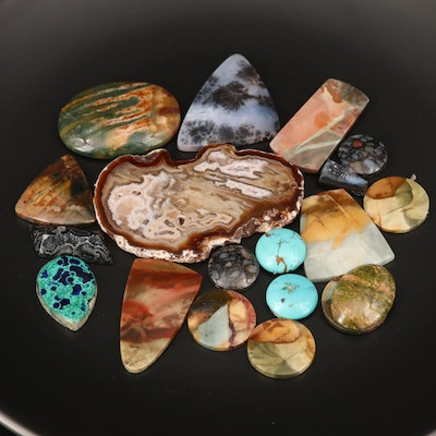 Loose Turquoise, Agate, Jasper and Additional Gemstones