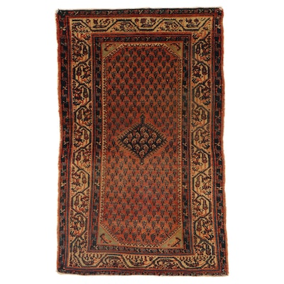 2'6 x 3'11 Hand-Knotted Persian Malayer Rug, 1920s