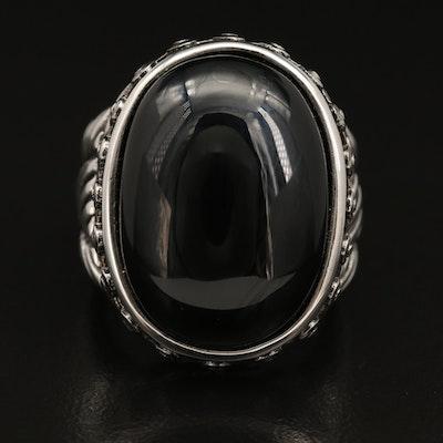 Stainless Steel Black Onyx Ring