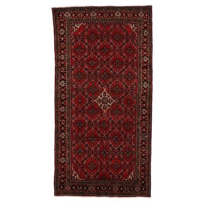 5'8 x 10'10 Hand-Knotted Persian Zanjan Rug, 1970s